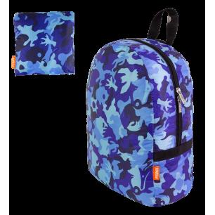 Faltbarer Rucksack - Pocket Bag - Camouflage Blue