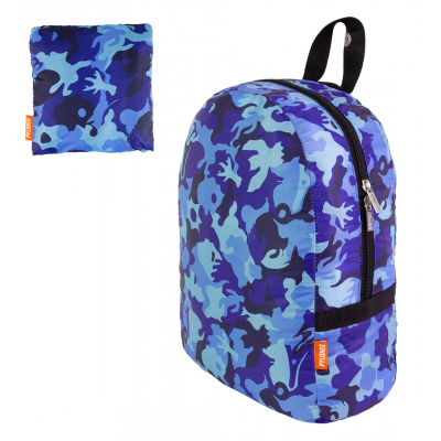 Sac à dos pliable - Pocket Bag - Camouflage Blue