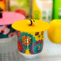 Couvercle silicone pour mug - Bienauchaud Flamingo