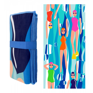 Telo mare in microfibra - Body DS Adulti - Swimming Pool
