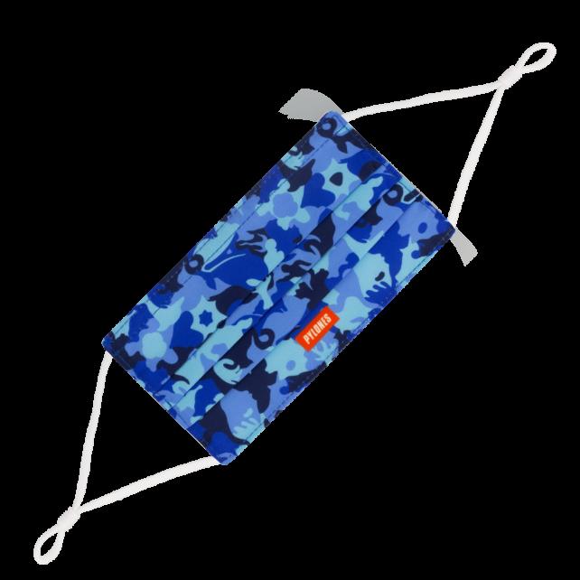 Waschbare Schutzmaske (Alltagsmaske) - Hidden Smile Erwachsene Camouflage Blue