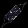 Waschbare und wiederverwendbare Schutzmaske - Alltagsmaske Black Board