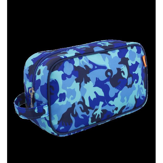 Kulturbeutel - Small Tidy Camouflage Blue