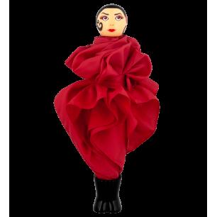 Ombrello pieghevole - Rain Parade - Rosso