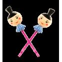 CL Hair de Paris - Paire de pinces à cheveux