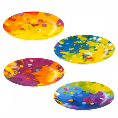 Set of 4 Plates - Art de Vivre