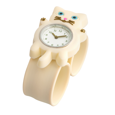 Slap watch - Funny Time - White cat