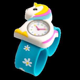 Orologio bambini - Funny Time - Unicorno blu