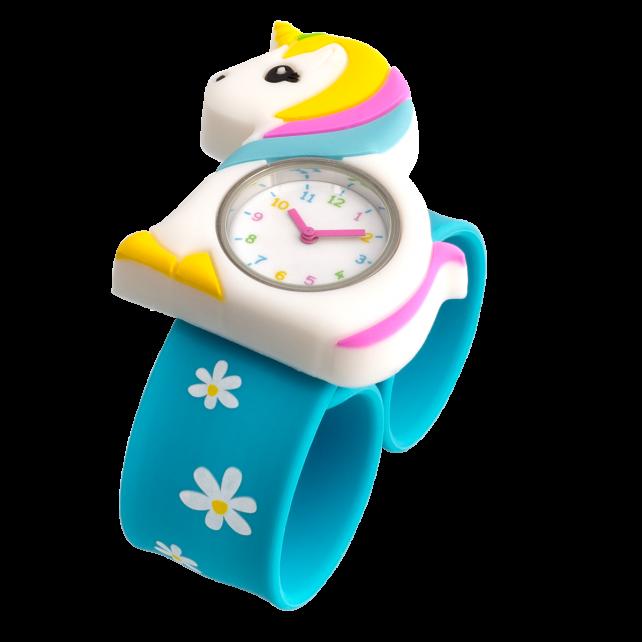 Slap watch - Funny Time Unicorn blue