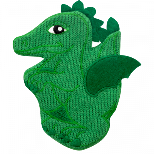 Chaufferette main réutilisable - Warmly - Dragon Vert