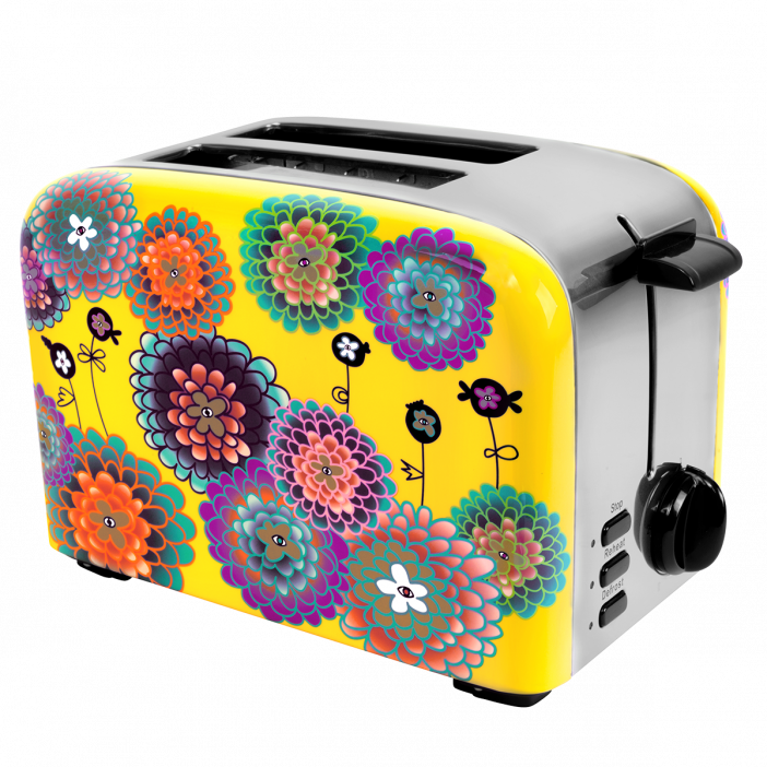Toaster with European plug - Toast'in 2 Dahlia