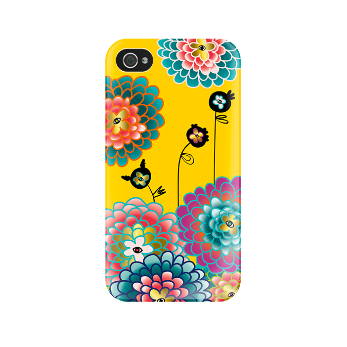 I Cover 4 - Coque pour iPhone 4/4S Dahlia
