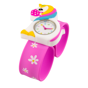 Slap-Uhr - Funny Time - Einhorn mit Maske