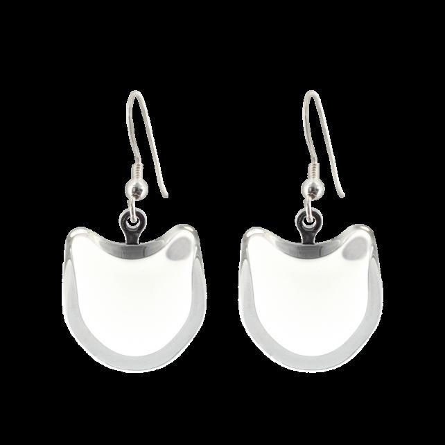 Hook earrings - Cat Milk White