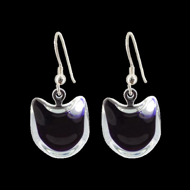 Hook earrings - Cat Milk Black