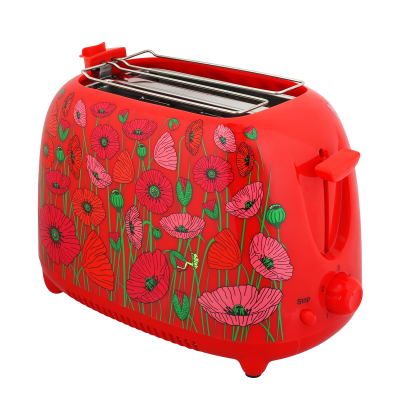 Toaster with European plug - Tart'in - Coquelicots
