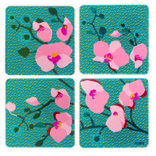 Set of 4 coasters - Sous verre