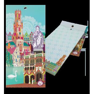 Bloc note magnétique - Carnet Formalist City - Bruges