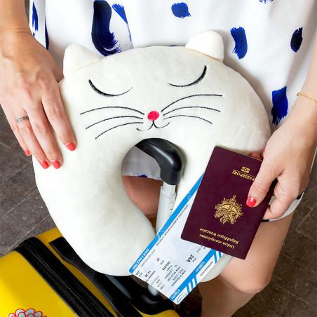 Travel pillow - Cat My Neck Black Cat