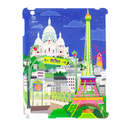 Case for iPad 2 and iPad retina - I Big Cover - Paris Bleu