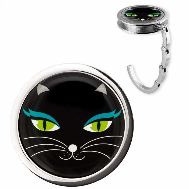 Accroche sac à main - Dîner en Ville Black Cat