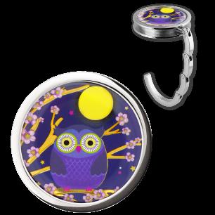 Handbag hook - Dîner en Ville - Blue Owl
