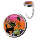 Handbag hook - Dîner en Ville Black Cat