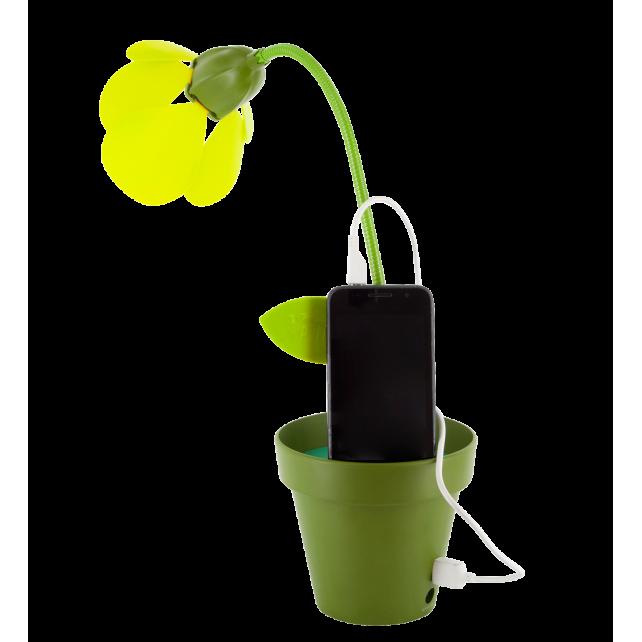 Lampe fleur led avec port usb - i touch