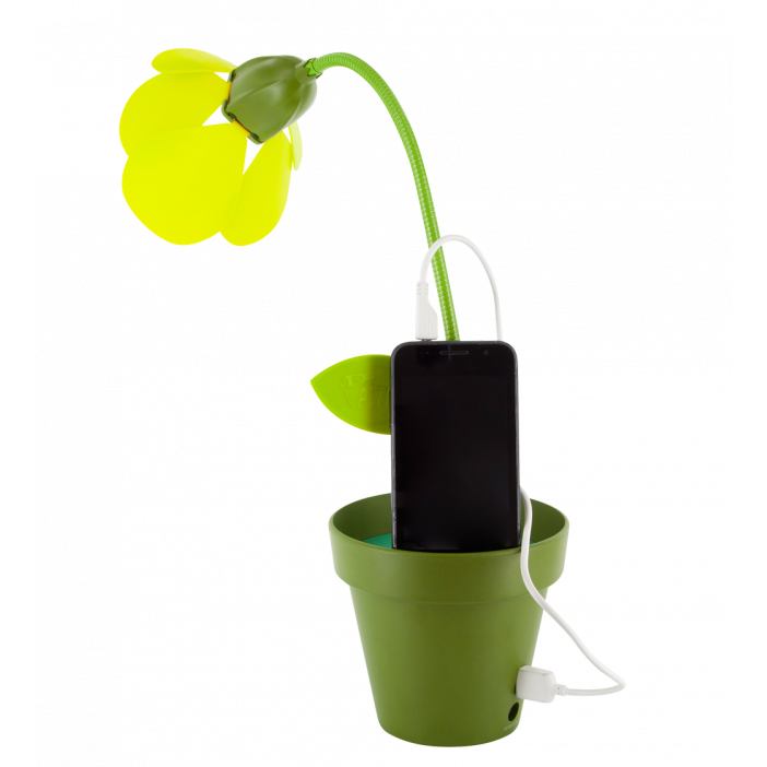I Touch - LED light with USB port Green - Pylones