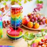 Stack of cups espresso - Café des artistes Palette