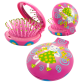 2 in 1 hairbrush and mirror - Lady Retro Coquelicots