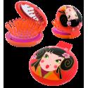 2 in 1 hairbrush and mirror - Lady Retro Birds