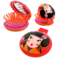 2 in 1 hairbrush and mirror - Lady Retro Bear