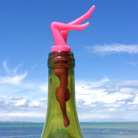 Bottle stopper - Diva Pink