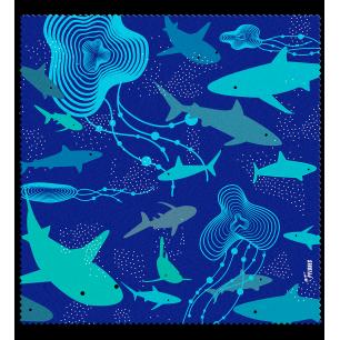 Tessuto in microfibra per occhiali - Belle Vue - Shark