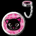 Handbag hook - Dîner en Ville White Cat