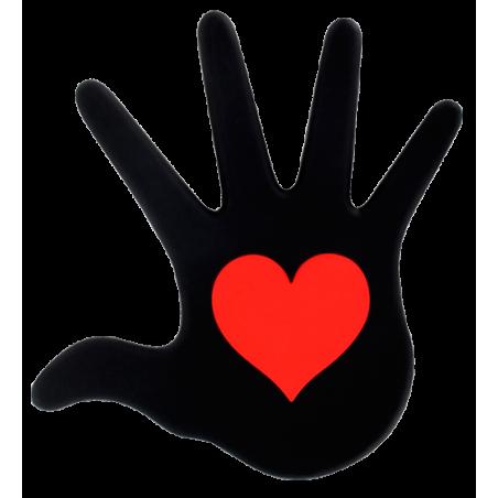 Dessous de plat - Le Coeur Sur La Main Noir