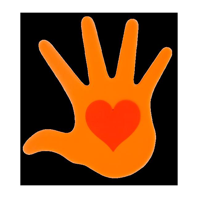 Sottopentola - Le Coeur Sur La Main Arancione