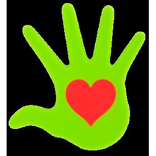 Sottopentola - Le Coeur Sur La Main - Verde