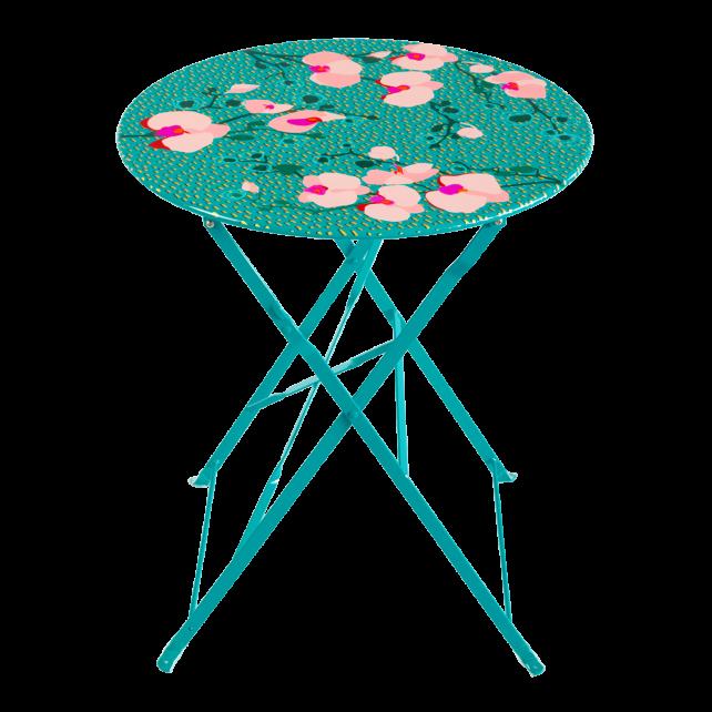 Table pliante - Garden Paradise Orchid Blue