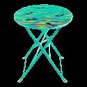 Folding table - Garden Paradise Orchid Blue
