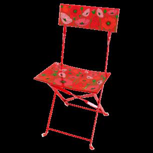 Chaise pliante - Garden Paradise - Coquelicots