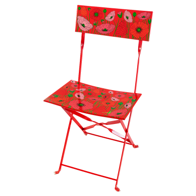 Folding chair - Garden Paradise - Coquelicots