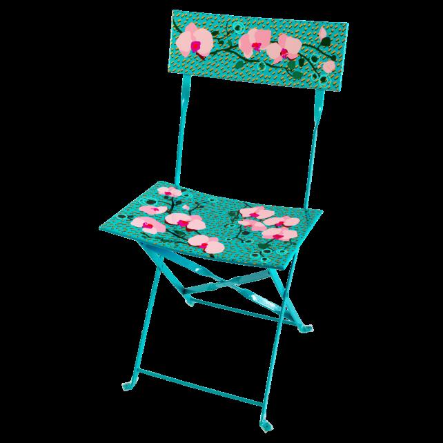 Chaise pliante - Garden Paradise Orchid Blue