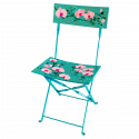 Folding chair - Garden Paradise Orchid Blue