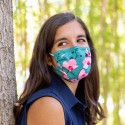 Mask in washable and reusable fabric - Hidden Smile Adults Jardin fleuri