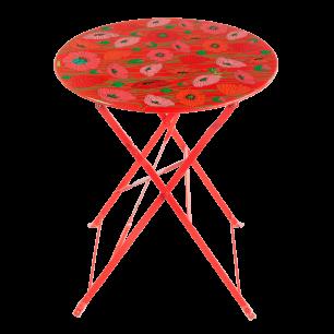 Table pliante - Garden Paradise - Coquelicots