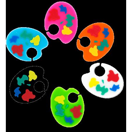 6er-Set Glasmarkierer - Happy Markers
