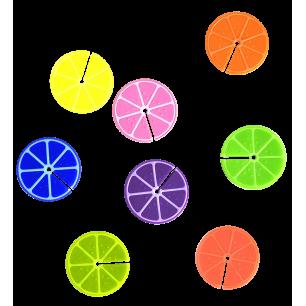 Set di 6 segnabicchieri - Happy Markers - Citron
