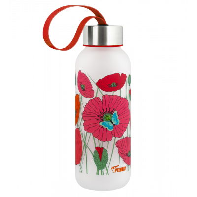 Flask 42 cl - Happyglou small - Coquelicots